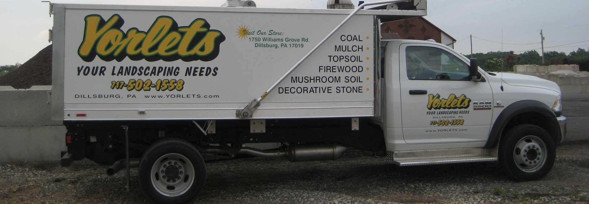 mulch truck
